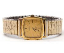 Ladies third quarter of 20th century gold plated and stainless steel backed wrist watch - Omega de