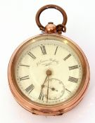 Last quarter of 19th/first quarter of 20th century Continental yellow metal cased pocket watch