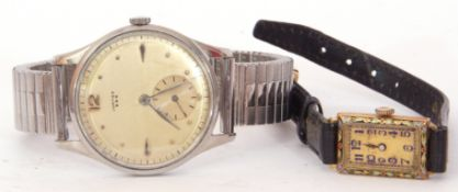 """Second/third quarter of 20th century gent's stainless steel """"Jupiter B&B"""" and a ladies second"""