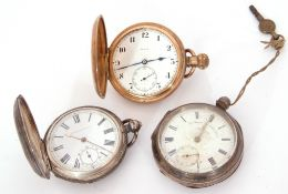 Mixed Lot: gent's first quarter of 20th century hallmarked silver cased pocket watch, the face