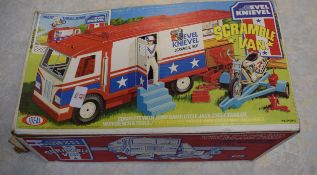 Boxed Evel Knievel scramble van manufactured by Ideal