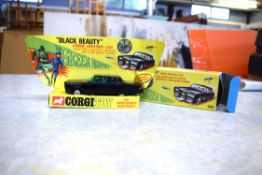 A Corgi model The Green Hornet Black Beauty with original box and packaging