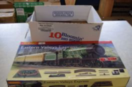 Quantity of railway items including a Hornby Eastern Valley Express 00 gauge set, box containing
