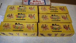 Group of Pelham puppets in original boxes including Fairy, Gretel, Prince Charming, Hansel,