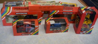 Group of boxed Britain's Army vehicles and set of Britain's Marine Commandos, plus Britain's