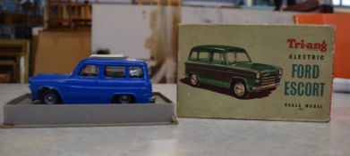 Tri-ang miniature electric Ford Escort in original box with instructions