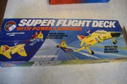 Boxed Airfix model of the Superflight Deck with power launcher
