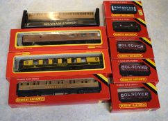 Box containing 00 gauge rolling stock boxed and in very good condition as follows: 3 x LNER coaches: