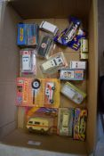 Group of boxed models of ambulances and related vehicles, some Matchbox, some Corgi (qty)