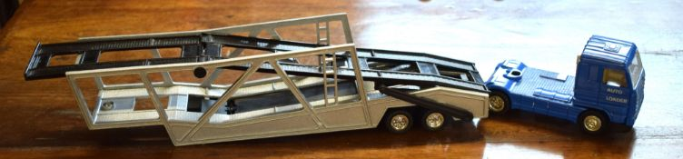 Model of an Esso car transporter from the Esso collection