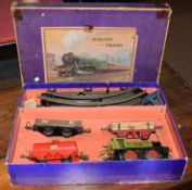 Large collection of Hornby '0' gauge clockwork train sets and additional rolling stock,