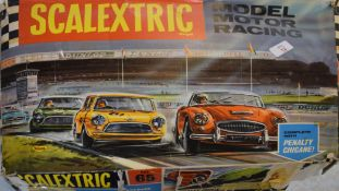 Boxed Scalextric motor racing set number 65