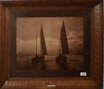 """H Jenkins, signed and inscribed """"Lowestoft"""" to image, sepia photograph (undated but early 20th"""