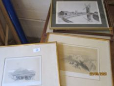QUANTITY OF VARIOUS FRAMED PRINTS AND PICTURES