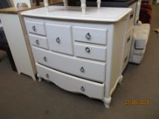 MODERN PAINTED FINISH CHEST OF DRAWERS, WIDTH APPROX 110CM