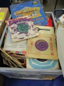 CRATE CONTAINING LARGE QUANTITY OF VARIOUS 12INS LP AND 7INS SINGLE RECORDS, VARIOUS INCLUDING