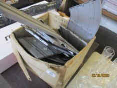 BOX OF VARIOUS VINTAGE IMPACT MOULDED PLASTIC RACE TRACK