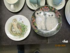 """COLLECTION OF WEDGWOOD """"BABY OWLS"""" PLATES (12) TOGETHER WITH A COLLECTION OF POOLE OWL THEMED PLATES"""
