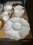 QUANTITY OF VARIOUS ROYAL DOULTON GILT EDGED DINNER WARES INCLUDING HORS D'OEUVRES TRAY