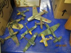 QUANTITY OF MOULDED PLASTIC AND DIE-CAST MODEL AIRCRAFT
