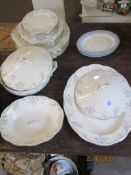 QUANTITY OF VARIOUS ROYAL ALBERT SATIN ROSE PLATES AND TUREEN