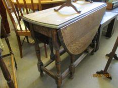 MID-20TH CENTURY GATE LEG TABLE, WIDTH APPROX 89CM