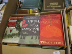 BOX OF MIXED HARDBACK BOOKS
