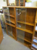 TWO MATCHING GLAZED DISPLAY CABINETS, EACH WIDTH APPROX 60CM