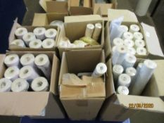SIX BOXES CONTAINING VARIOUS ROLLS OF LAURA ASHLEY WALLPAPER INCLUDING CORNISH STRIPE, BLUSH AND