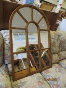 ARCH SHAPED FEATURE MIRROR, HEIGHT APPROX 105CM