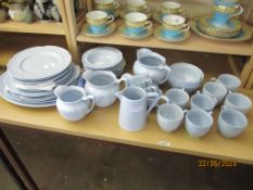 QUANTITY OF JOHNSON BROS HOUSEHOLD CHINA TO INCLUDE SERVING PLATES, DISHES, CUPS, SAUCERS ETC