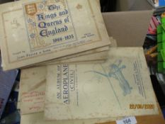 QUANTITY OF VARIOUS MOUNTED SETS OF CIGARETTE CARDS CONTAINED IN THEIR RESPECTIVE BOOKS INCLUDING