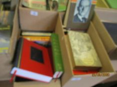 TWO BOXES OF MIXED BOOKS INC REFERENCE ETC
