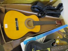 BOXED THREE QUARTER SIZE ACOUSTIC GUITAR