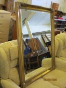 ORNATE GILT FRAMED MIRROR WITH BEVELLED EDGE GLASS, MODERN, APPROX 90 X 115CM