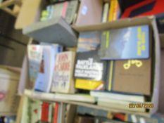 BOX OF MIXED BOOKS INC HISTORICAL INTEREST, NOVELS, TRAVEL ETC