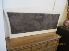 LARGE MODERN PADDED HEADBOARD, MAX WIDTH APPROX 170CM