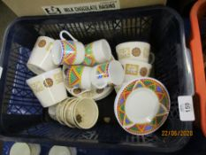 NORITAKE PART COFFEE SET TOGETHER WITH A FURTHER PART COFFEE SET VARIOUS TEA CUPS ETC