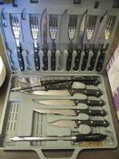 CASED SET OF STEAK KNIVES AND FORKS