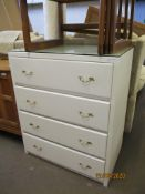 PAINTED CHEST OF DRAWERS, WIDTH APPROX 75CM