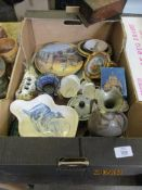 BOX OF MIXED CHINA AND OTHER CLEARANCE WARES