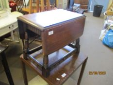 SMALL FOLDING OCCASIONAL TABLE WIDTH APPROX 52CM