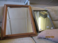 TWO VARIOUS FRAMED MIRRORS, THE LARGER APPROX 69 X 73CM INC FRAME