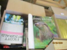 BOX OF MIXED BOOKS INC TRAVEL INTEREST