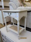 MODERN PAINTED FINISH BEDSIDE TABLE, WIDTH APPROX 50CM