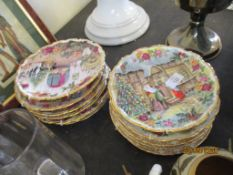 COLLECTION OF TWELVE VARIOUS WALL PLATES OR COLLECTORS PLATES INCLUDING ROYAL ALBERT FOUR SEASONS,