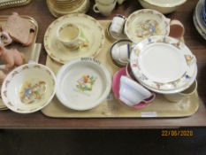 QUANTITY OF VARIOUS CERAMICS INCLUDING MINTONS COFFEE CUPS AND SAUCERS, TOGETHER WITH A QUANTITY