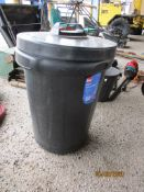 PLASTIC WASTE BIN AND LID