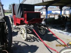 VINTAGE WOODEN HORSE DRAWN CARRIAGE