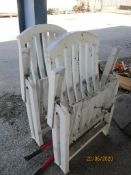 TWO FOLDING PLASTIC GARDEN CHAIRS